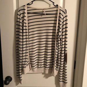 Sweaters - Striped long sleeved cardigan